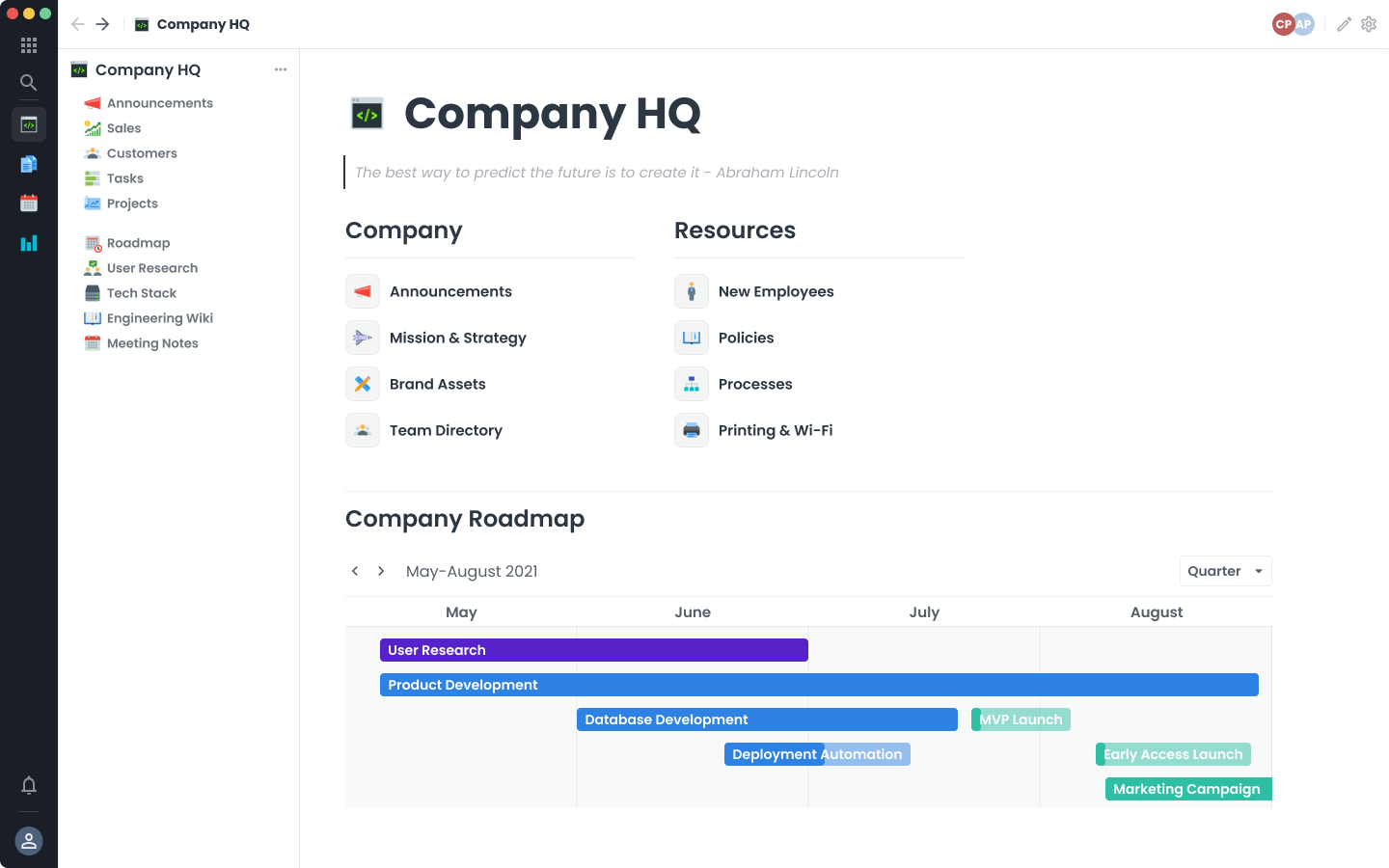 Build your own company HQ with framework. All-in-one flexible productivity work OS